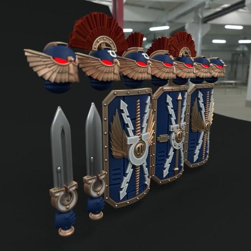 cultspack2.jpg Download STL file Ultra Chapter Bladeguard/Terminator upgrade set • 3D printer design, vb2341