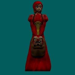 Redhood1.jpg Download free STL file Children toy, little redhood girl for decorative or play purpose • 3D printable design, Zelgiust
