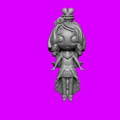 1.jpg Download free STL file Chibi princess, children's toy • 3D printable template, Zelgiust