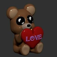 1.jpg Télécharger fichier STL Teddy bear valentine gift to express your love • Design imprimable en 3D, Zelgiust