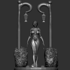 Anna1.jpg Download STL file Statue of Anna the vampire, sexy predator on the street. • 3D printing design, Zelgiust
