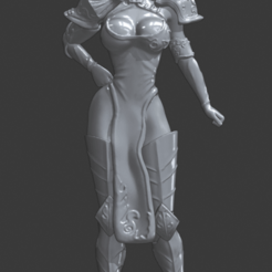 Download 3D print files Statuette Diane Seven Deadly sins, sexy anime warrior, Zelgiust