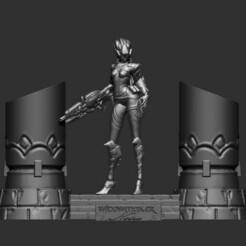 widow 1.jpg Download STL file Overwatch - WidowMaker Black Outfit diorama statue • Design to 3D print, Zelgiust