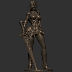 1.jpg Download STL file Fairy tail - Erza Scarlet sexy statue - warrior and Xin armor version • Design to 3D print, Zelgiust