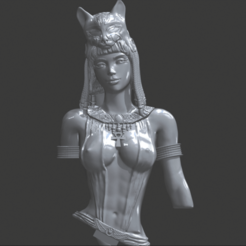 egyptian bust 2.png Download free STL file Sexy Cleopatra statue, bust of a goddess, woman, queen of ancient Egypt. • 3D printer model, Zelgiust