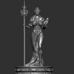 Queen 1.jpg Télécharger fichier STL Chess board game - The queen • Design pour impression 3D, Zelgiust