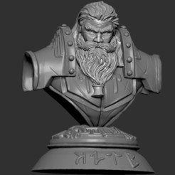1.jpg Download STL file Bust Kromdör, Statue of the King of the Mountain • 3D printable design, Zelgiust