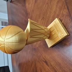 20200129_104630.jpg Download STL file 2019 Toronto Raptors Championship Trophy • 3D printable template, frazfayyaz