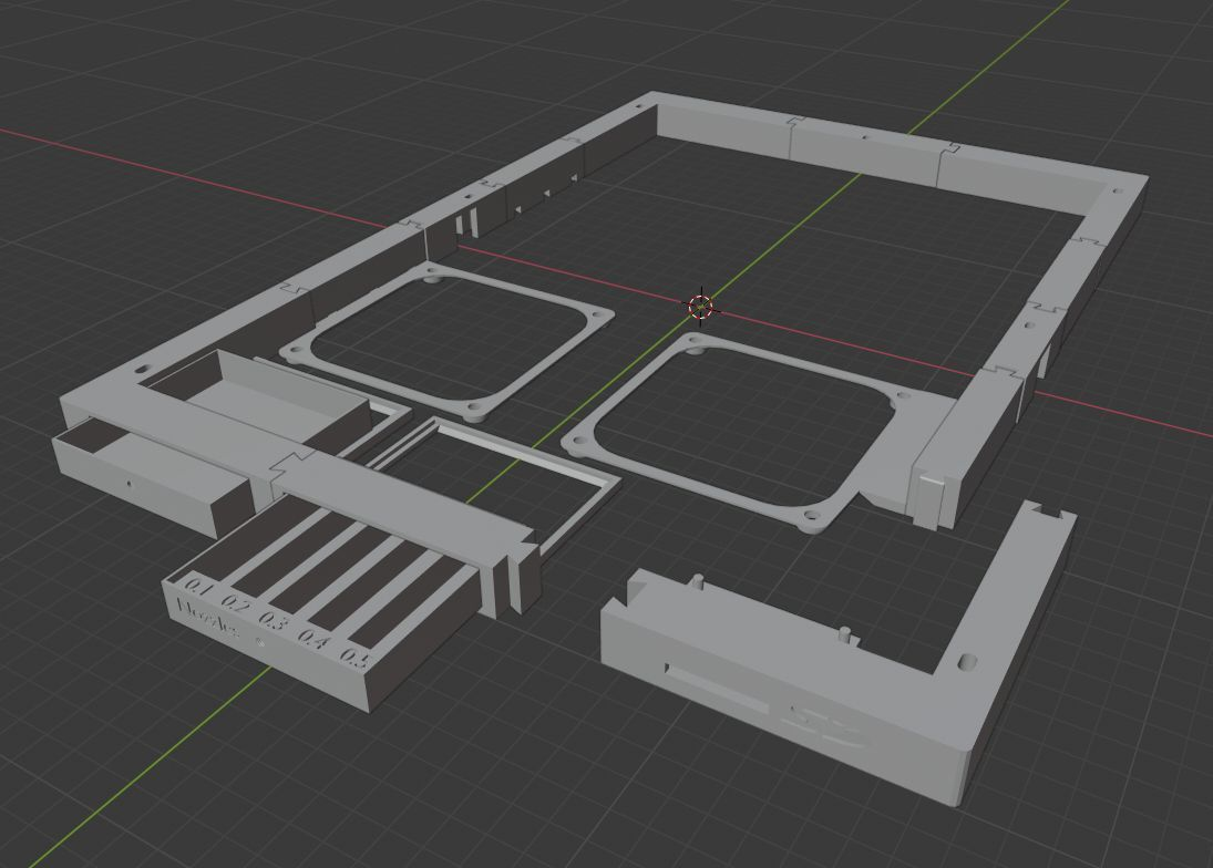 any.jpg Download free STL file Anycubic Mega Liftup Frame (big fans, front SD, drawers) • 3D print template, sui77