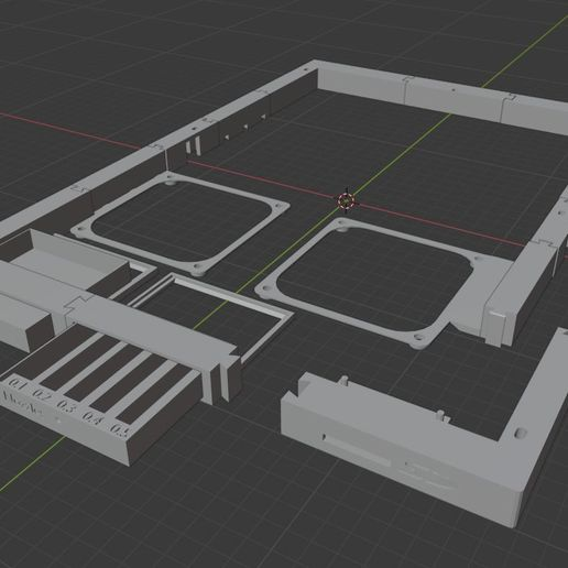 Download free 3D printer model Anycubic Mega Liftup Frame (big fans, front SD, drawers), sui77