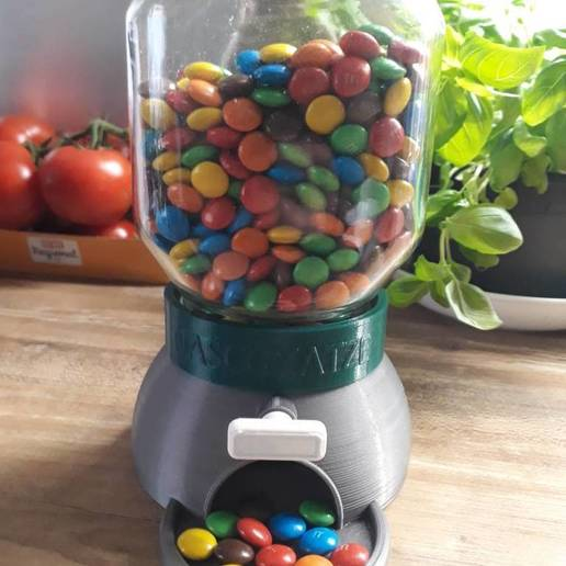 20200721_145712.jpg Download free STL file Nutella Glass Candy Dispenser • 3D printable model, sui77