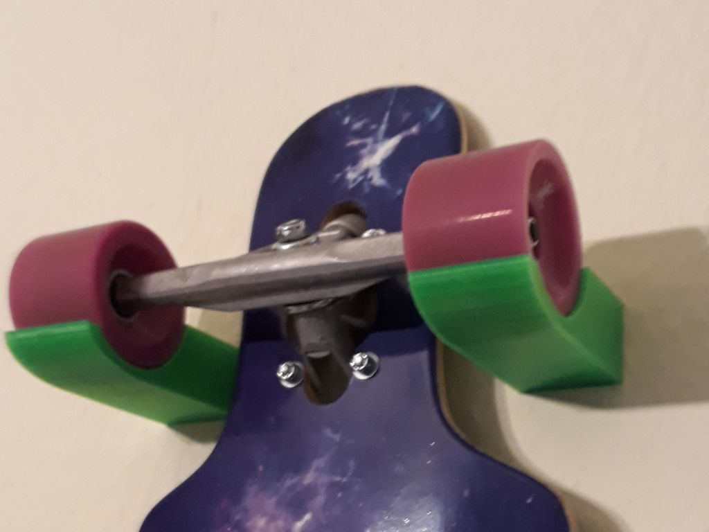 longboard.jpg Download free STL file Longboard Wall Mount • 3D print object, sui77