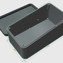 Box Slant No Holl.png Download STL file Xiaomi M365 battery box for bottom rod Compatible hoverboard battery • 3D printable object, MosDesign