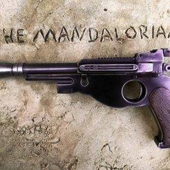Télécharger plan imprimante 3D gatuit Le pistolet blaster mandalorien, ofo03