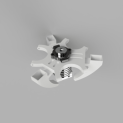 Download free 3D print files e3d V6 Kossel Rostock Delta effector, robC