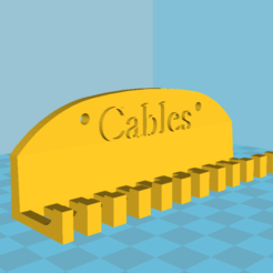 Download free 3D printer designs Cable holder, robC