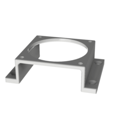 Download free 3D model 60mm fan mounting bracket, robC