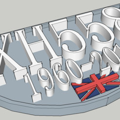 Download free 3D printing templates XH558 Vulcan Bomber Plaque, robC