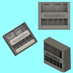 NozzleBOXPSD.jpg Télécharger fichier STL Nozzle Box • Plan à imprimer en 3D, Baptou