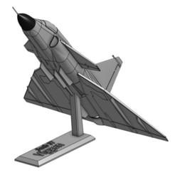 Skärmklipp.JPG Télécharger fichier STL gratuit Saab 37 Viggen, modèle de bureau 1/72 • Objet à imprimer en 3D, Ewolve