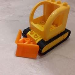 20200128_001422.jpg Télécharger fichier STL gratuit Chasse-neige Lego Duplo • Design à imprimer en 3D, Ewolve