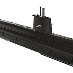 HMS_Gotland_v41.JPG Télécharger fichier STL gratuit Sous-marin RC HMS Gotland 1/48 • Modèle pour impression 3D, Ewolve