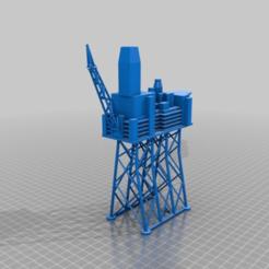 Download free STL file Mariner Oil Platform • 3D printer template, Ewolve