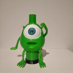 defrente mike.jpg Download STL file nozzle for shisha mike wazoski monsters s.a • 3D print model, jahnando