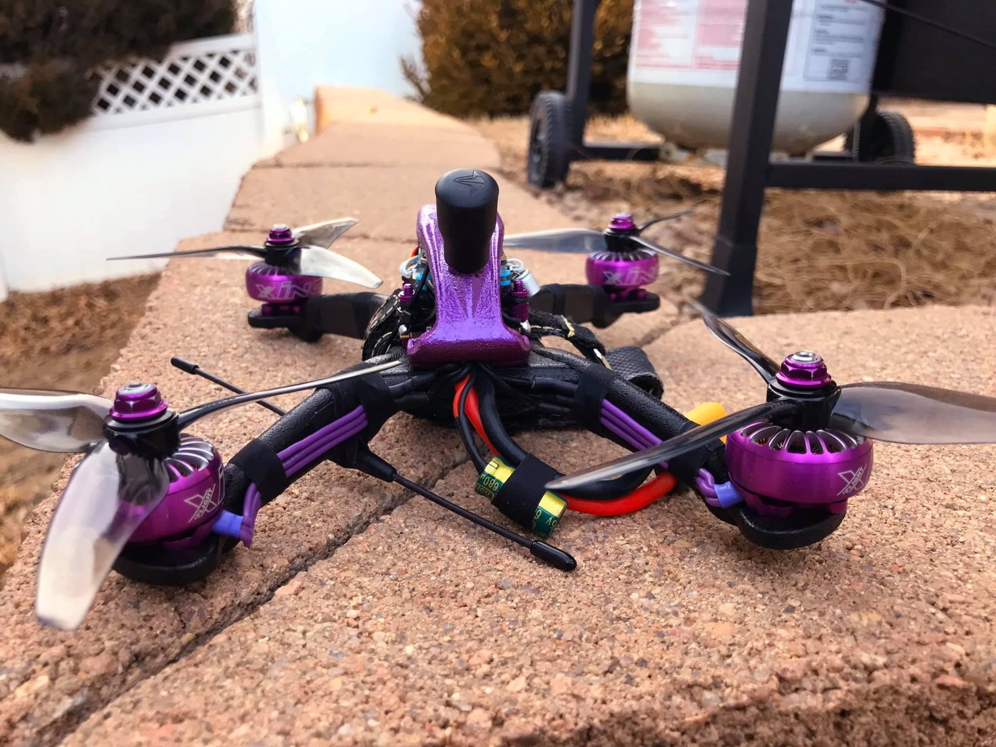82772112_10160887118047355_1951982418927812608_o.jpg Télécharger fichier STL gratuit Cadre du quadriporteur Exorcist Racing (nouveau modèle) • Design pour impression 3D, DuckyRC