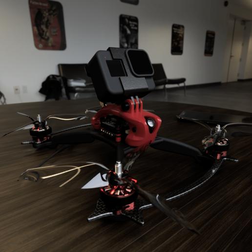 Exorcist_Frame_Brace_Final.png Télécharger fichier STL gratuit Cadre du quadriporteur Exorcist Racing (nouveau modèle) • Design pour impression 3D, DuckyRC