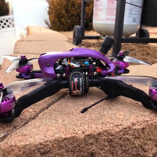 82914824_10160887118087355_331032860582477824_o.jpg Télécharger fichier STL gratuit Cadre du quadriporteur Exorcist Racing (nouveau modèle) • Design pour impression 3D, DuckyRC