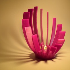 DSC_0192.JPG Download free STL file Candleholder Harp • 3D printable design, ZuCoMaXx