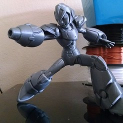 Download free 3D printing files Megaman X Posed Figurine, dinamuuu3d