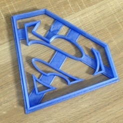 Download free STL file Superman Cookie Cutter • 3D print model, BrPay