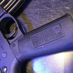 Download 3D print files Trump AR15 Pistol grip handle, Airsoft, Mil Spec, novelty, tombstone3821