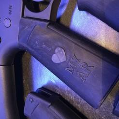 Download STL files AR15 Pistol Grip, I love my AR, Milspec, Airsoft, tombstone3821