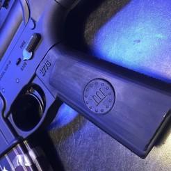 Download 3D printing templates 3  Three Percenter AR15 pistol Grip, M16, Airsoft, Milspec, tombstone3821