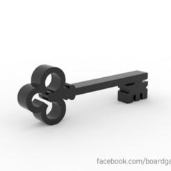 Descargar modelo 3D gratis Key Meeple Token para juegos de mesa, boardgameset