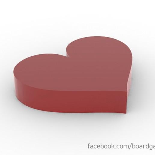 Descargar archivos 3D Heart Life Meeple Token, boardgameset