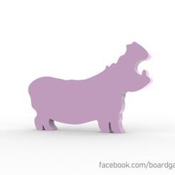 Descargar diseños 3D gratis Hipopótamo Meeple, boardgameset