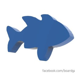 fish.jpg Download STL file Fish Meeple for Board Games • 3D print template, boardgameset