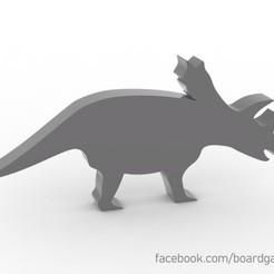 Descargar diseños 3D gratis Triceratrops Dinosaur Meeple / Token para juegos de mesa, boardgameset