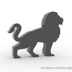 lion.jpg Download STL file Lion Meeple for Board Games • 3D printable object, boardgameset