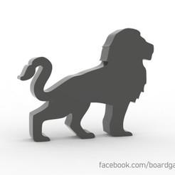 Download 3D printer model Lion Meeple for Board Games, boardgameset