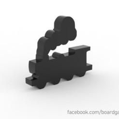 Descargar modelos 3D gratis Train Meeple / Token para juegos de mesa, boardgameset
