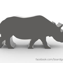Descargar archivos 3D gratis Rhino Meeple Token para juegos de mesa, boardgameset