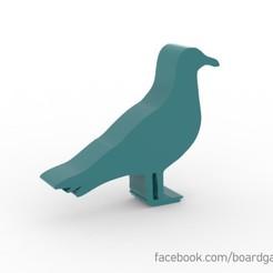 Imprimir en 3D gratis Pájaro meeple para juegos de mesa, boardgameset