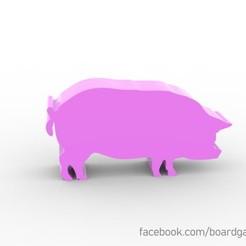 Descargar archivos STL gratis Agricola Pig Meeple, boardgameset