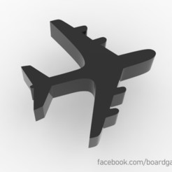airplane.jpg Download free STL file Airplane Meeple for Board Games • 3D printable design, boardgameset