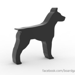 dog.jpg Download free STL file Dog Meeple Token for Board Games • 3D printable model, boardgameset
